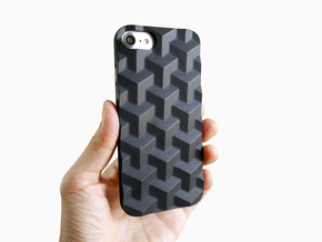iPhone 7 & 8 case_Cube in Black Premium Versatile Plastic