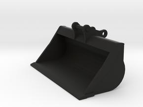 Miniatuur brede bak / slotenbak 1:50 voor 20 tons  in Black Natural Versatile Plastic