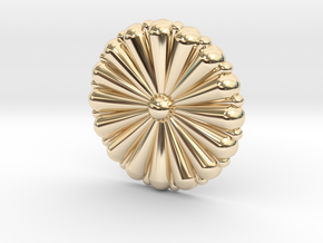 1/72 IJN Gold Chrysanthemum in 14K Yellow Gold