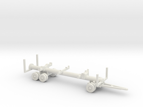 1/72 Molch trailer for German submarine in White Natural Versatile Plastic