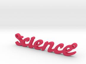 Science Pendant, So Cool in Pink Processed Versatile Plastic