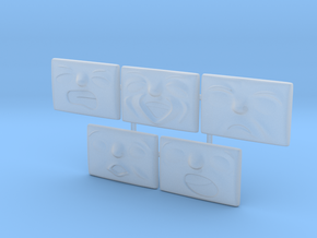 Small Face Pack (5x) in Smoothest Fine Detail Plastic: 1:76 - OO