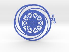 Crop circle Pendant 5 in Blue Processed Versatile Plastic