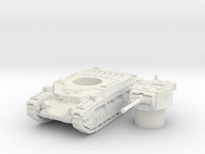 matilda II scale 1/100 in White Natural Versatile Plastic