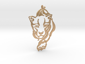 Crouching Tiger pendant in Natural Bronze