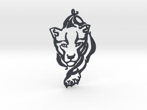 Crouching Tiger pendant in Black Professional Plastic