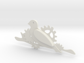 Brooch in White Natural Versatile Plastic