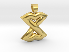 Celtic knot lips in Polished Brass