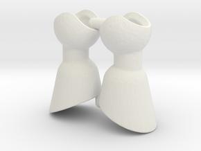 2 Hoof Set for ModiBot in White Natural Versatile Plastic