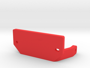 10.2 V-Servo Bracket for Axial & Currie Axles in Red Processed Versatile Plastic
