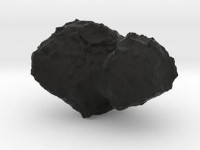 Comet 67P/C-G 1:100,000 scale in Black Natural Versatile Plastic