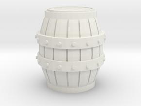 HO scale barrel in White Natural Versatile Plastic