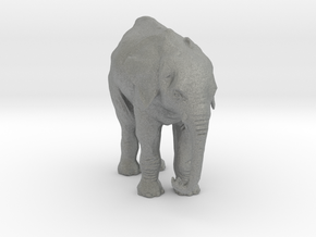 N Scale Elephant in Gray Professional Plastic
