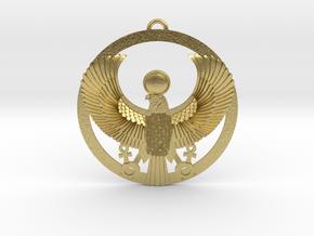 "Horus-Ra Pendant 1.6"" in Natural Brass"