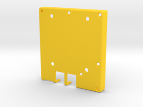 E-paper case - bottom half in Yellow Processed Versatile Plastic