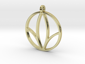 Herbalife Nutrition Pendant_V_1 in 18k Gold Plated Brass