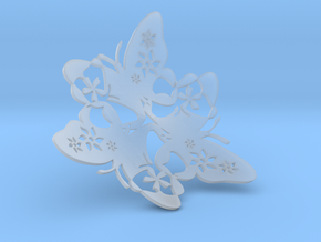 Butterfly Bowl 1 - d=16cm in Smooth Fine Detail Plastic
