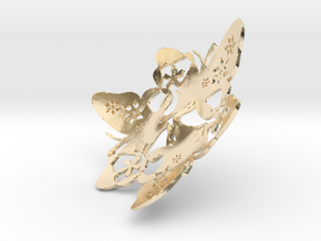 Butterfly Bowl 1 - d=8cm in 14K Yellow Gold