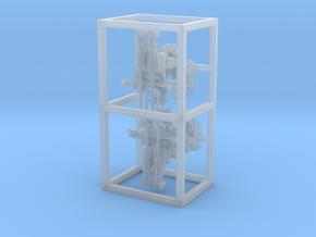 2x 37 mm C/30 Flak Doppellafette  Scale 1:100 in Smooth Fine Detail Plastic