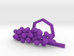 Gram Positive Cocci Tie Clip in Purple Processed Versatile Plastic