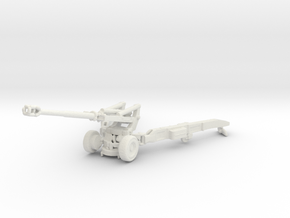 1/72 Scale M198 155mm Howitzer in White Natural Versatile Plastic