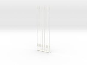 arrow set 1 long in White Processed Versatile Plastic