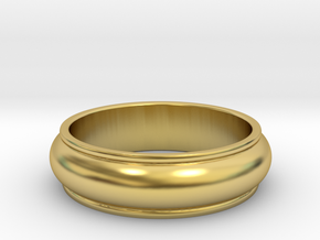 Men's Antique Wedding Band in Polished Brass: 8.5 / 58