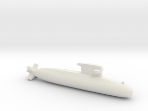 Walrus-class submarine, Full Hull, 1/1800 in White Natural Versatile Plastic