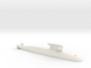 Walrus-class submarine, 1/1800 in White Natural Versatile Plastic