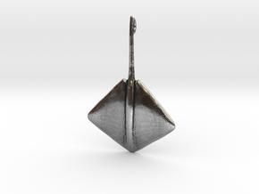 Stingray Pendant in Antique Silver