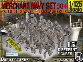 1/125 Merchant Navy Set504 in Smooth Fine Detail Plastic