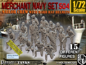1/72 Merchant Navy Set504 in Smooth Fine Detail Plastic