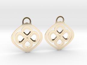 Garden pansies. Earrings in 14k Gold Plated Brass