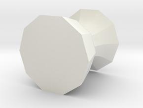 Free form pot 1 in White Natural Versatile Plastic: Medium