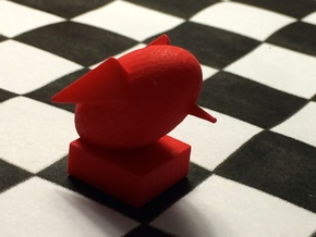 Rook-shaped Rook in Red Strong & Flexible Polished