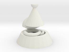 Shiny Juttuli in White Natural Versatile Plastic