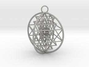 3D Sri Yantra 4 Sided Optimal in Aluminum
