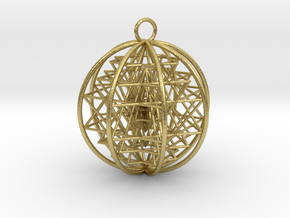 3D Sri Yantra 8 Sided Symmetrical in Natural Brass