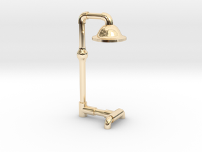 floor lamp in 14k Gold Plated Brass: Medium