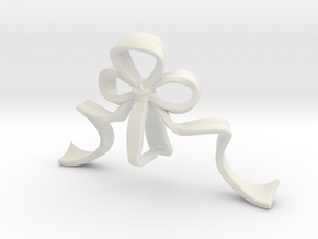 Ribbon (For Elaborate Lozenge w/ Eyelet) in White Natural Versatile Plastic: Small