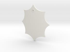 Elaborate Lozenge w/ Eyelet (Plain) in White Natural Versatile Plastic: Small
