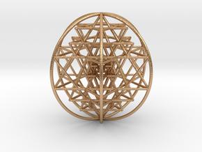 "3D Sri Yantra 6 Sided Optimal Large 3"" in Natural Bronze"