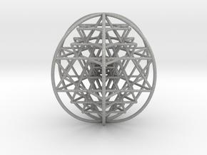 3D Sri Yantra 6 Sided Optimal Large in Aluminum