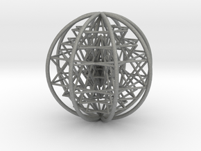 "3D Sri Yantra 8 Sided Symmetrical 3"" in Gray PA12"