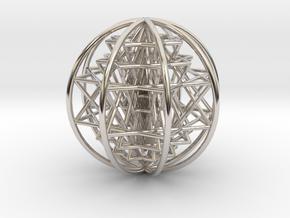 "3D Sri Yantra 8 Sided Optimal Large 3+"" in Platinum"
