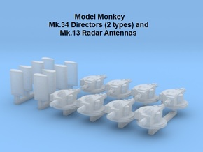 1/500 Mk.34 Directors and Mk.13 Radars in Smoothest Fine Detail Plastic