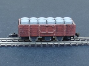 Wagon Set 3 - 3 x Tombereau - Nm - 1:160 in Frosted Ultra Detail