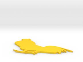 Chicken in Yellow Processed Versatile Plastic: Medium