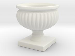 Planter Urn Hollow Form 2017-0010 Porcelain in White Natural Versatile Plastic: 1:12