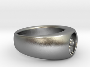 Koala Ring Ø 0.748inch-18.89mm size 9 inscription in Natural Silver